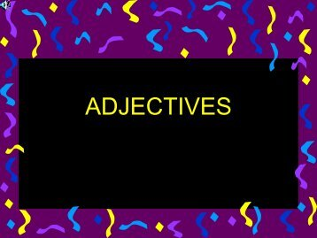 ADJECTIVES - My English Lessons