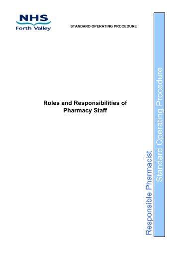 Standard Operating Procedure - Community Pharmacy