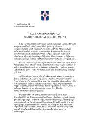 saga kaupmannahafnar sem höfuðborgar íslands í 500 ár - forseti.is