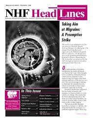 138, May/June 2004 - National Headache Foundation