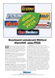 Whitford products now available with no PFOA - Italian