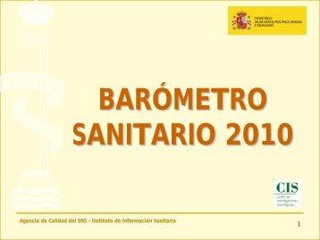 barómetro sanitario 2010 - Ministerio de Sanidad y Política Social