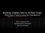 Building a Safety Net for At-Risk Youth: - Sierra Health Foundation
