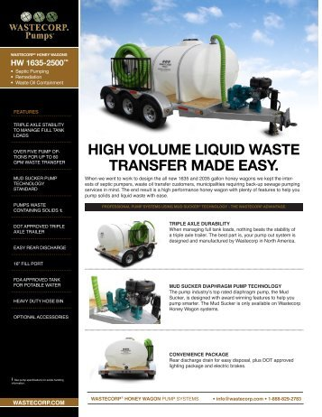 Remediation Pump System Manufacturer - Wastecorp Pumps