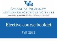 Elective_booklet_Fal.. - University at Buffalo School of Pharmacy ...