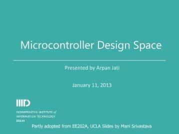 Microcontroller Design Space - IIIT