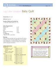 Log Cabin Variation: Baby Quilt - McCalls Quilting