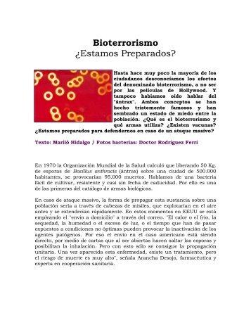 Bioterrorismo ¿Estamos Preparados?