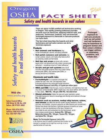health and safety in salon