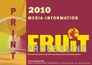 confructa medien GmbH - FRUIT PROCESSING