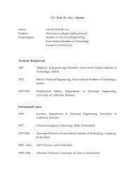 CV - Prof. Dr. Urs v. Stockar Name von STOCKAR, Urs ... - NBV