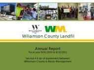 2011 Annual Report - Williamson County Landfill - Waste ...