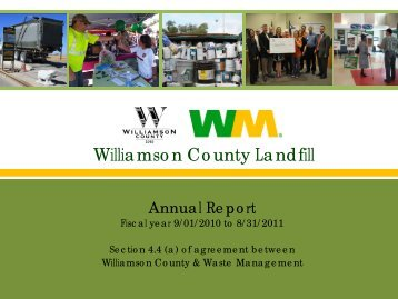 2011 Annual Report - Williamson County Landfill - Waste ...