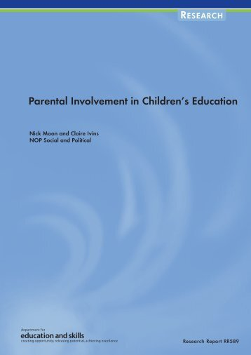 Parental Involvement in Children's Education - Communities and ...
