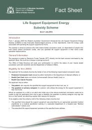 Life Support Equipment Electricity Subsidy Fact Sheet