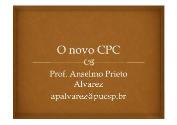 O Novo CPC - Anselmo Prieto Alvarez - UniCEUB