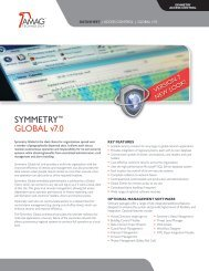 SYMMETRY™ GLOBAL v7.0 - AMAG