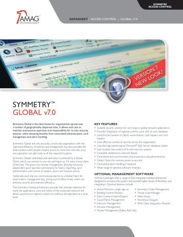 SYMMETRY™ GLOBAL v7.0 - AMAG