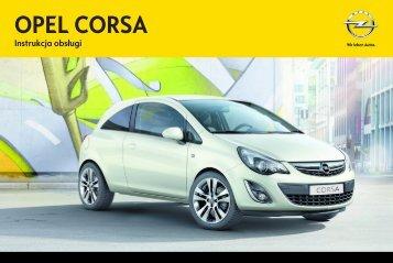 Opel Corsa 2013 – Instrukcja obsługi – Opel Polska
