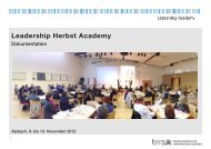 Dokumentation über die Leadership Herbst Academy