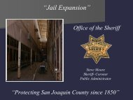 """Jail Expansion"" - San Joaquin County"