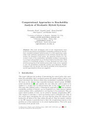 Computational Approaches to Reachability Analysis of Stochastic ...