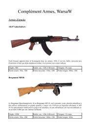 Complément Armes, WarsaW