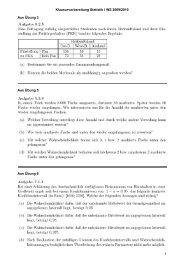 Klausurvorbereitung Statistik I WS 2009/2010 Aus Übung 3 Aus ...