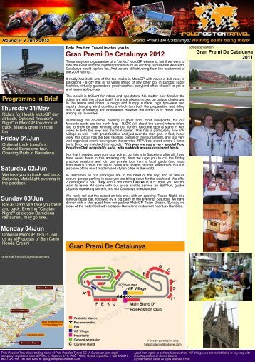Gran Premi De Catalunya 2012 5 - Pole Position Travel