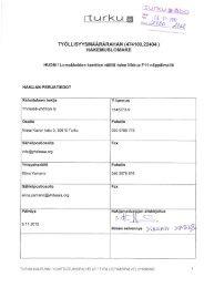 Liite 1 Työllisyysmäärärahan hakemuslomake - Turku