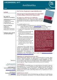 Maj 2013 Tema Antibiotika - Sygehusapoteket - Region Nordjylland