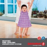 HEATING AND COOLING UNDERFLOOR SYSTEM - Giacomini SpA