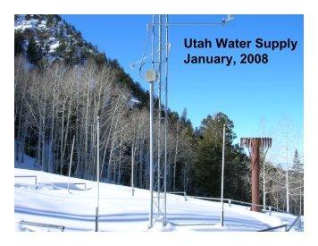 Utah Water Supply January, 2008