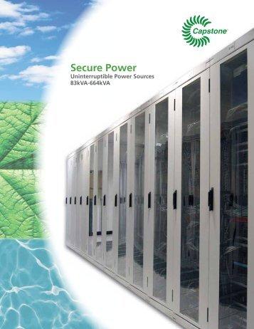 Secure Power - Capstone Turbine