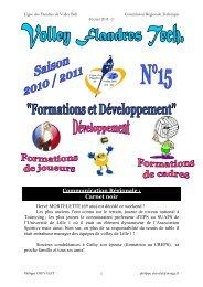 Volley Flandres Tech N°15 Février 2011-2- - Ligue des Flandres de ...