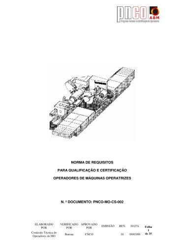 Operador de Máquinas Operatrizes - ABM