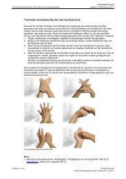 Techniek handdesinfectie met handalcohol - Vilans