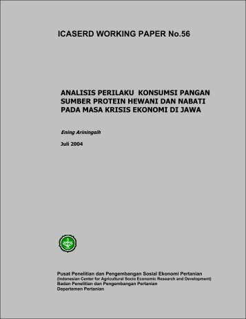 Analisis Perilaku Konsumsi Pangan Sumber Protein Hewani dan