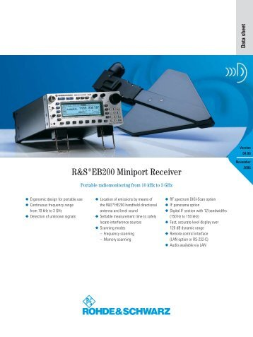 R&S EB200 Miniport Receiver - MCS Test Equipment