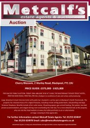 Print Brochure - Metcalf Estate Agents
