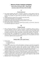 návrh stanov SČP připravený PK Praha - Strany potápěčské
