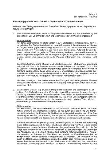 ... Bebauungsplan Nr. 462:- Gelmer – Gelmerheide / Zur Eckernheide