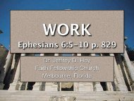 WORK Ephesians 6:5-10 p. 829 - Faith Fellowship Church