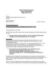 Dringlichkeitsantrag der SPÖ-Hall vom 16.12.08 als PDF - Hall in Tirol