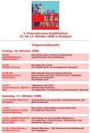 Samstag, 11. Oktober 2008 - Forum der Kulturen