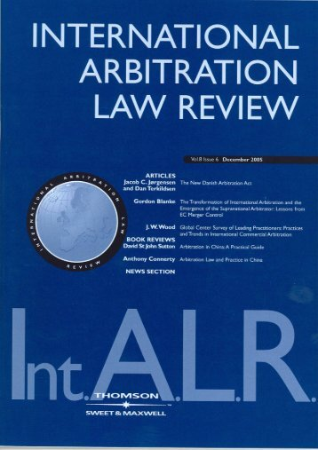 International Arbitration Law Review - Sweet & Maxwell