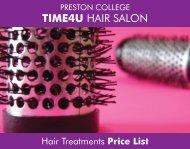 Time 4 U Price List - Preston College