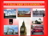 5 DAY TRIP TO LONDON