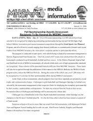 Fall Sportsmanship Awards Announced - Michigan High School ...