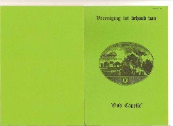 Nieuwsbrief 1981 09 (september) - Historische Vereniging Capelle ...